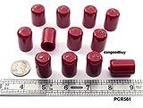 "12 Pcs Red Vinyl Caps 5/8"" Inside Diameter"