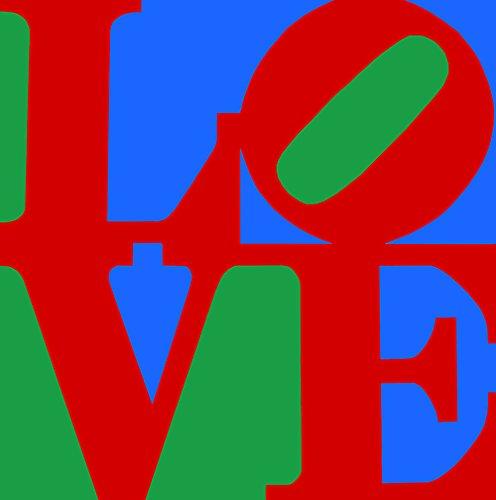 LOVE Pop Art Canvas Print (20x20, original) (Amaze Art Gallery)