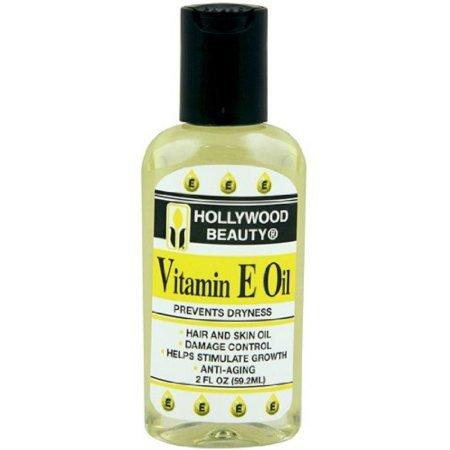 Hollywood Beauty Vitamin E Oil Hair & Skin Treatment 2 oz (Pack of 4)