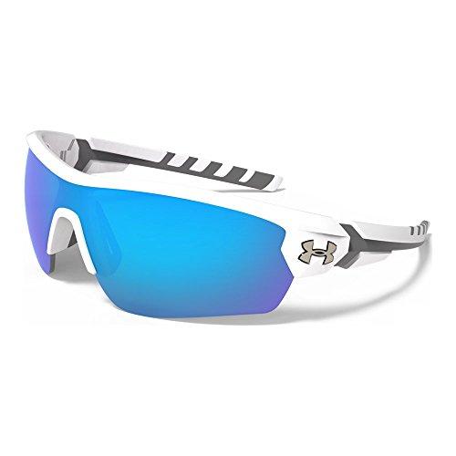 Under Armour Rival 8600090-110961 Shield Sunglasses, Satin White/Charcoal Gray, 42 - Armor White Sunglasses Under