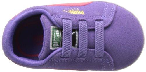 Puma Suede Crib - Caña baja de cuero infantil Violeta - Violett (dahlia purple-paradise pink 03)