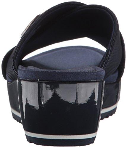 Mujer Color Navy Felisha para de Anne Fabric Tela Negro Metallic Plataforma Klein TqwxafB