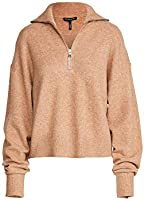 Marissa Webb Women's Wesley Boyfriend Fit Zip Front Sweater