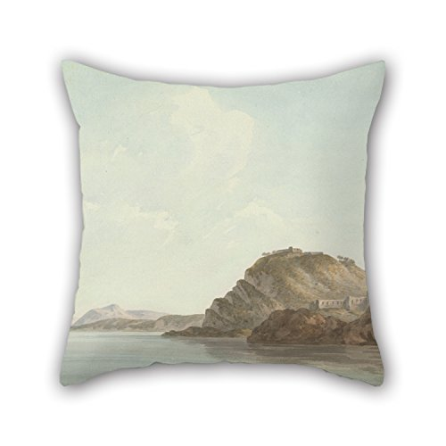 Uloveme 16 X 16 Inches / 40 By 40 Cm Oil Painting John Warwick Smith - Coast Near Sorrento Christmas Pillow Covers Each Side Ornament And Gift To Wedding Outdoor Seat Gf Dining Room Kids Boys (Sorrento Seat Love)