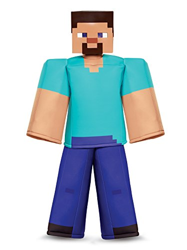 Mine Craft Halloween Costumes (Steve Prestige Minecraft Costume, Multicolor, Small)
