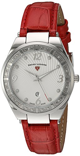 Swiss Legend Women's 'Passionata' Quartz Stainless Steel and Leather Automatic Watch, Color:Red (Model: 10220SM-02-RDS)