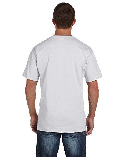 Fruit of the Loom mens 5 oz. 100% Heavy Cotton HD Pocket T-Shirt(3931P)-ASH-XL-4PK - Grey Others Ash T-shirt