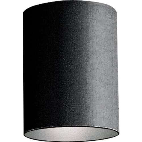 Progress Lighting P5774-31 5-Inch Flush Mount Cylinder with Heavy Duty Aluminum Construction Powder Coated Finish and UL Listed For Wet Locations, Black by Progress Lighting