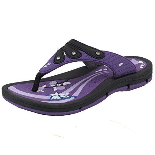 GP6882 Women Outdoor/Water Flipflops, Water Release Design, Purple EU39