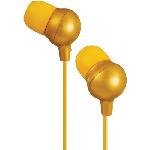 JVC HAFX30D Headphone, Marshmallow, - Orange Marshmallow Headphones