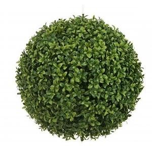 One 20 Inch Artificial Boxwood Ball Topiary Plant by Silk Tree Warehouse
