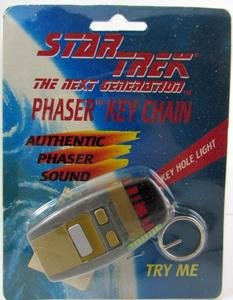 amazon com star trek next generation type 1 phaser keychain phaser