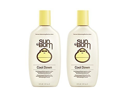 Sun Bum Cool Down ZIeST Hydrating After Sun, 8 oz - After Sun Lotion (2 Pack) (Gel After Sun Lotion)