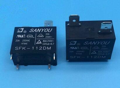 Sfk-112dm 12VDC 20A 250VAC Sanyou Relais 1à partir d'une, Neuf et original 5pcs/lot Neuf et original 5pcs/lot