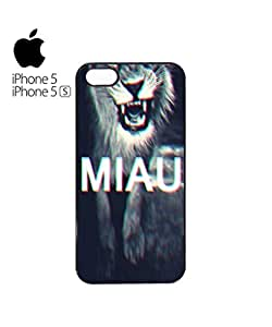 Lmf DIY phone caseMeow Miau 3D Lion Mobile Cell Phone Case Cover iPhone 5&5s WhiteLmf DIY phone case