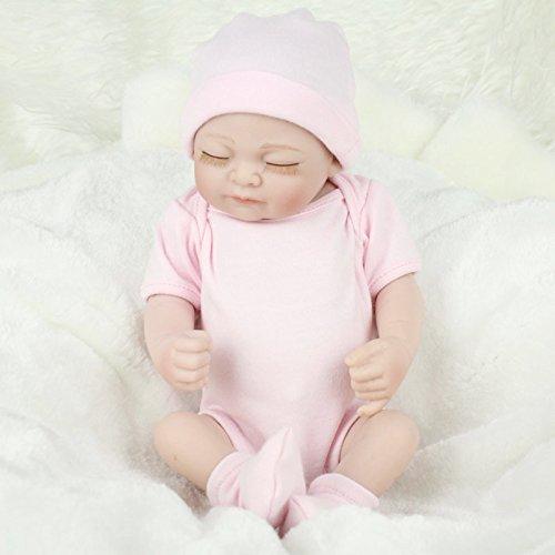Zinnor Reborn Baby Dolls,11\17\ 22 Inch Handmade Dolls Lifelike Newborn Silicone Vinyl Reborn Gift Baby Dolls New Arrival Model Dolls Boy Girl Toy+Clothes ()