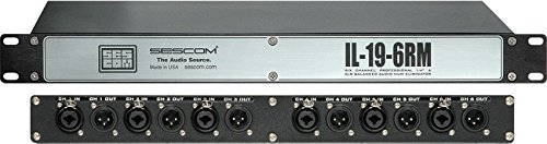 (Sescom IL-19-6RM 6-Channel In-Line Rackmount Isolation Hum Eliminator-by-Sescom)