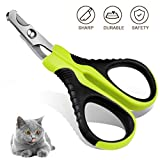 Aritan Professional Pet Cat Nail Clipper Scissors Trimmer for Cats - Dogs - Puppies - Rabbits and Small Animals - Cat Claw Clippers Scissors - Stainless Steel - 25 Degree Curved Design - Paw Grooming