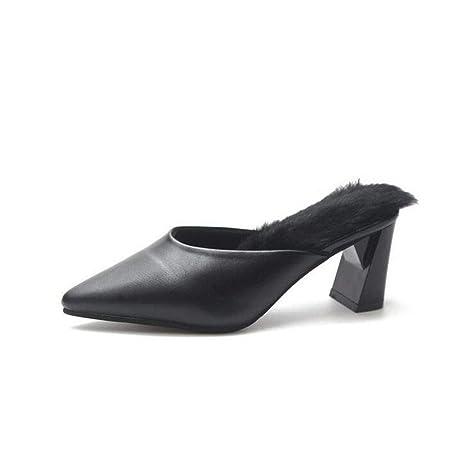 Calzados informales para mujeres, medias zapatillas de moda de otoño / invierno, calzados cómodos