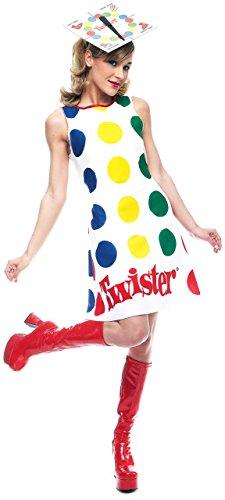 Paper Magic Women's Adult Twister Dress And Hat,Twister,Medium -