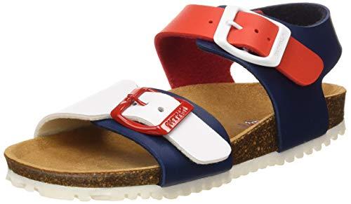Garvalín Boys' 192480 Open Toe Sandals, Multicolour (Azul/Rojo Y Blanco (Mat) Dark), 11 ()