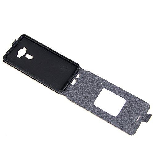 Para Asus Zenfone 3 ZE552KL 5.5 inch Caso compacto de piel PU, arriba-abajo piel abierta PU Funda de piel con ranura para tarjeta y función de protección completa con cierre magnético Caja a prueba de Rosado