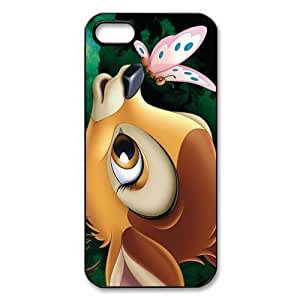 Customize Black White Cartoon Disney Bambi Back For Iphone 4/4S Case Cover JN -2207