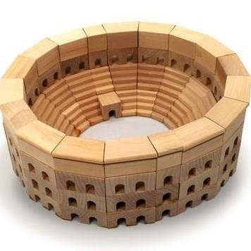 HABA Roman Coliseum Wooden Architectural Building Blocks - 110 Piece Set