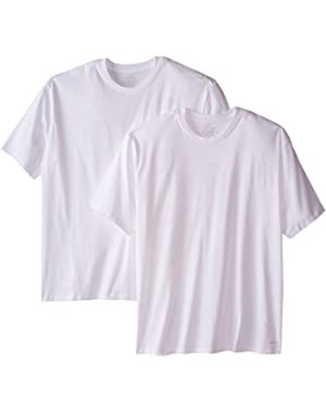 Calvin Klein Men's Big-2 Pack Cotton Classics Short Sleeve Crew Neck T-Shirts
