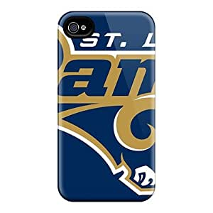 Anti-scratch And Shatterproof St. Louis Rams Phone Case For Iphone 4/4s/ High Quality Tpu Case