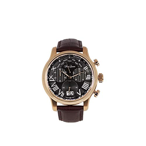 Pierre Laurent Swiss Made Mens Classic Day Retrograde Chronograph Watch