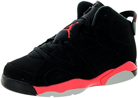 sports shoes 751fe 2f6ce Amazon.com  Jordan Nike Kids 6 Retro Bp Black Infrared 23 Black Basketball  Shoe 13 Kids US  Sports   Outdoors