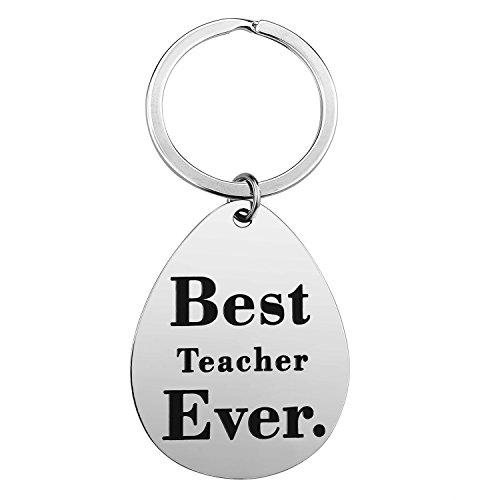 Teacher Gifts for Women Men - Best Teacher Ever Teacher Appreciation Gifts Idea for Christmas Birthday Stainless Steel Teacher Jewelry with Gift Box (Best Teacher Keychain) (For Gifts Christmas Ideas For)