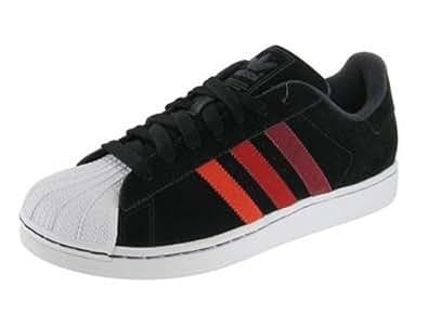 Adidas Originals Men's Superstar II Low-Top Classic Sneaker Shoe-Black/Red