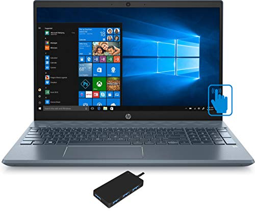 "HP Pavilion 15-cw1069wm Home and Business Laptop (AMD Ryzen 5 3500U 4-Core, 16GB RAM, 512GB m.2 SATA SSD + 1TB HDD, 15.6"" Touch Full HD (1920x1080), AMD Vega 8, Wifi, Win 10 Home) with USB Hub"