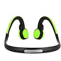 Sports Headphones Bluetooth 4.1 Wireless Earphones Open Ear Bone Conduction Headphones with Reflective Design(Yellowgreen)