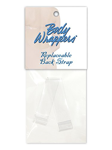 Body Wrappers Detachable Clear Back Strap for Bras (003) -CLEAR -13