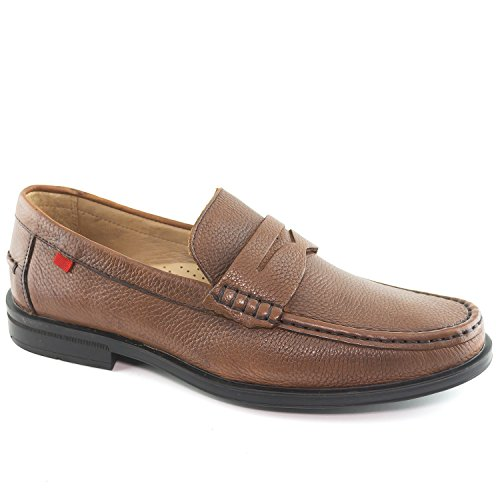 (Mens Genuine Leather Made in Brazil Cortland Street Cognac Grainy Leather Loafers 8.5)