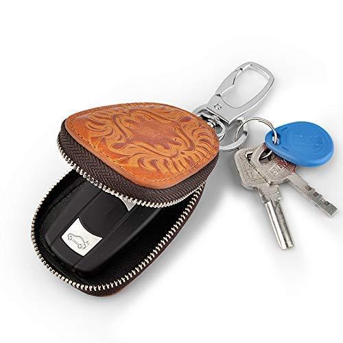 wu Men Women Genuine Leather Car Key Holders Housekeeper for Men Retro Multifunctional Home Keychain Case Female Key Wallet