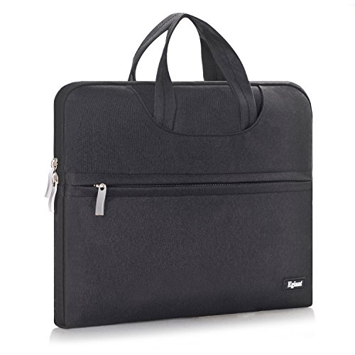 Laptop Case Bag 14-15.6 Inch,Egiant Waterproof Slim Fabric Carrying Case Messenger Briefcase Bags Sleeve With Handle for Notebook Laptops Chromebook & All Macbook Pro15(Black)