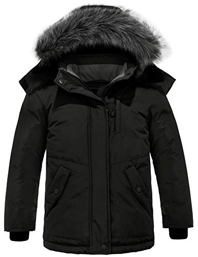 ZSHOW Waterdichte winterjas voor meisjes, zachte fleece jas, gevoerde parka, katoen, gevoerde bufferjas