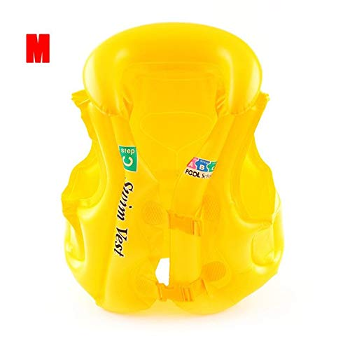 CUSHY 3 Size Children' s Swimming Suit Children Boost Safety Training Suit Buoyancy Vest air Life et Pool Floats: Yellow M