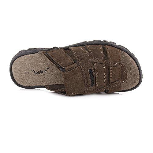 Mens Slider Slip On Brown Suede Leather Mule Sandals SIZE 7 sJLsm