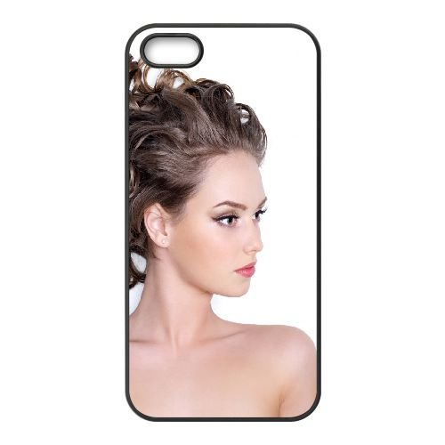 Brown Hair Hairstyle White Background coque iPhone 4 4S cellulaire cas coque de téléphone cas téléphone cellulaire noir couvercle EEEXLKNBC23853