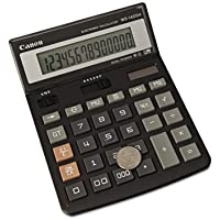 Canon Products - 14-Digit Calculator, Tilt Display, AutomaticPower Off/Function - Sold as 1 EA - WS-1400H calculator has a wide range of features, which help solve your calculation problems quickly. With a 14-digit capacity, large calculations such as currency exchanges can be easily accommodated. Offer a convenient key roll-over system for quick entry. The large, durable plastic key tops with double-zero and triple-zero keys ensure accurate operation. Other features include decimal positions (A