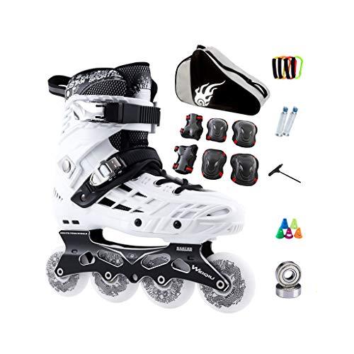 言語味方退却ailj インラインスケート、スケート、大人の男の子、女の子、ローラースケート、プロのコンビネーション、多機能スケート(2色) (色 : 黒, サイズ さいず : EU 38/US 6/UK 5/JP 24cm)