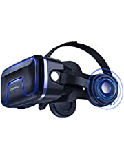 VR Headset,Virtual Reality Headset,VR Glasses,VR Goggles-for 3D VR Movies Video Games,Compatible for iPh 7/7+/6s/6+/6/5,Samsung,Huawei,Google,Moto & All Android Smartphone(Newest style)