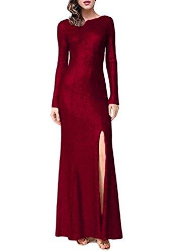 mujer Vestido ajustado A para Aurgundy Stillluxury SzqwYxx