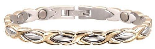 (Sabona Lady Executive Dress Gold Duet Magnetic Bracelet - Large by Sabona)