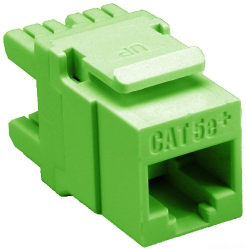 T568-A//B Wiring Green 110 Termination 1 Port 8 Conductor 8 Position Allen Tel AT65-05 Category 5e High Density Jack Module